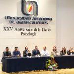 Psicología de la UAA celebra su 25 aniversario y destaca por su intervención en problemáticas prioritarias