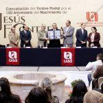 UAA y Servicio Postal Mexicano ponen en circulación estampilla conmemorativa por 150 aniversario del natalicio del escultor Jesús F. Contreras