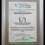 UAA recibe premio de CUMEX por estar entre las cinco universidades con mejores indicadores de calidad de segunda generación