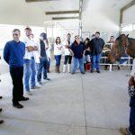 Rector realiza recorrido de supervisión en Posta Zootécnica de la UAA