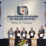 Firman convenio UAA, Gobierno estatal, Poder Judicial, H. Congreso del estado y CEDHA para coordinar eventos por el Centenario de la Constitución Política de México y Aguascalientes