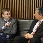Buscan estrechar vinculación la UAA y la Universidad del Rosario de Colombia
