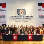 Rinden protesta 58 nuevas sociedades de alumnos que se incorporarán a la Asamblea General de la FEUAA