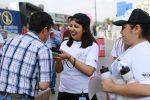 Estudiantes UAA participaron en campaña de sensibilización y concientización sobre consumo de alcohol en la FNSM