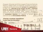 UAA celebra respeto a la autonomía universitaria de Universida Autónoma del Estado de Hidalgo.